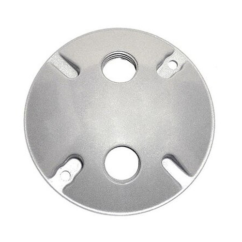 """4"""" Weatherproof Round Cover, 2 Holes, 1/2"""""""