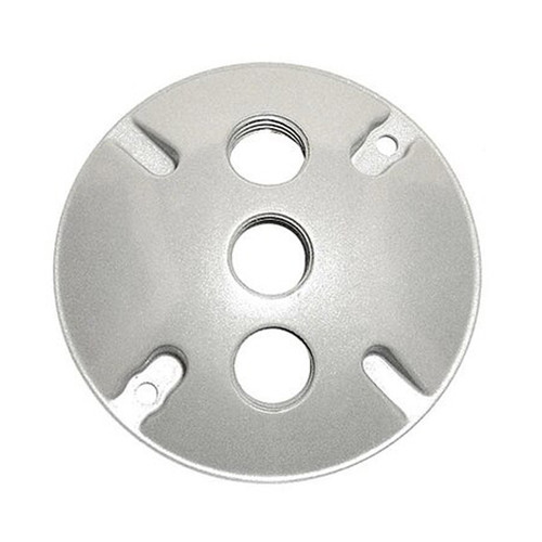 """4"""" Weatherproof Round Cover, 3 Holes, 1/2"""""""