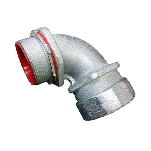 Malleable Iron Liquid Tight Connector - 90 Degree, Insulated