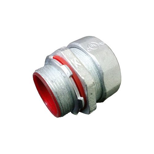 Malleable Iron Liquid Tight Connector - Straight, Insulated