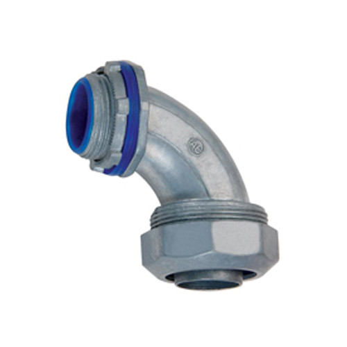 Liquid Tight Connector, Zinc Die Cast - 90 Degree, Insulated