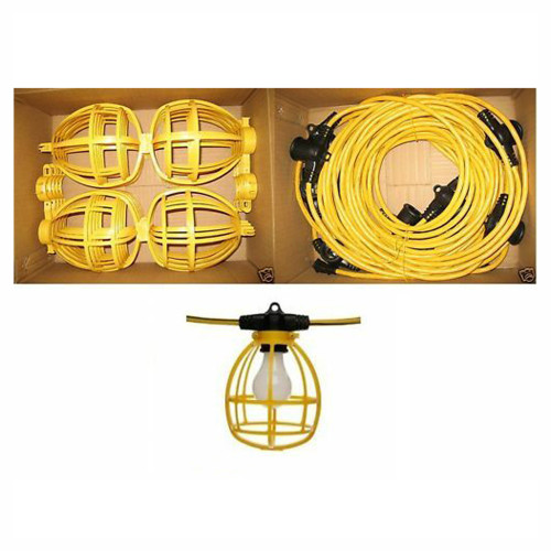 Temporary Lighting String 100 ft w/ Male & Female Ends