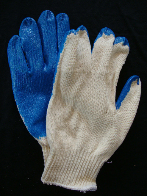 Case of Heavy Duty Work Gloves, Blue (240 Pairs)