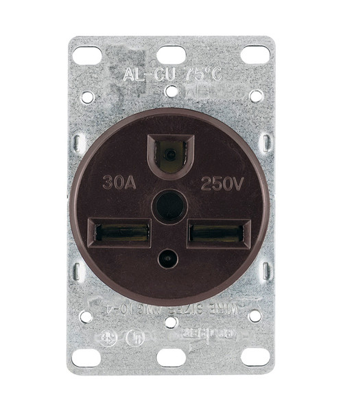 Power Receptacle 30A-250V; 2-Pole, 3-Wire; 6-30R