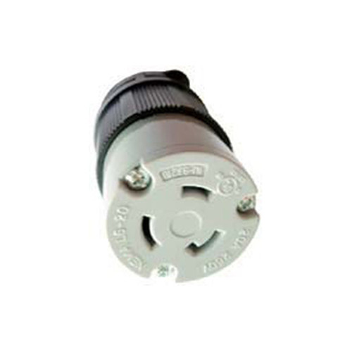 (L6-20C) 20A-250V, 2-Pole 3-Wire Locking Connector