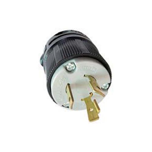 (L6-20P) 20A-250V, 2-Pole 3-Wire Locking Plug