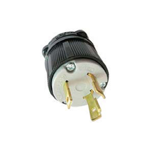 (L6-30P) 30A-250V, 2-Pole 3-Wire Locking Plug