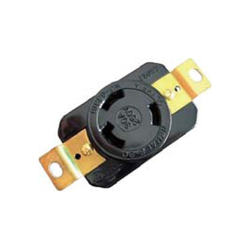 (L6-30R) 30A-250V, 2-Pole 3-Wire Locking Receptacle