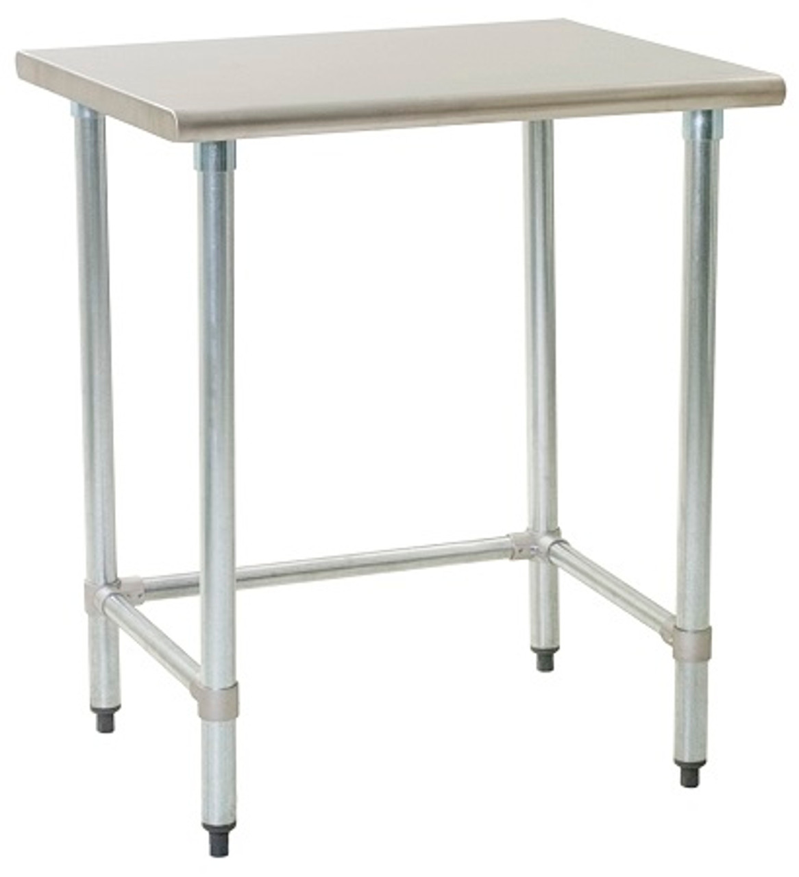 Stainless Steel Prep Tables; Budget Kitchen Grade, Type 430 Stainless Steel  Top, Galvanized Base, NSF, 24\