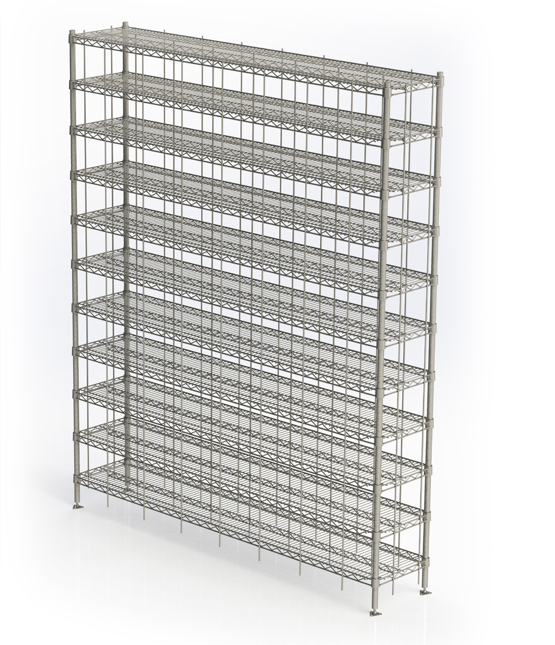 Stainless Steel Shoe Racks 40 Compartments 14 Wx 36 L X 87 H Metro Free Freight Im Sr1436s 40