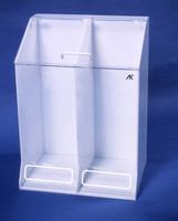"Cleanroom Garment Dispensers - Acrylic    22""W x 30""H x 15""D, AK-1485  by Cleanroom World"