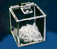 "Pipette Tip Disposal Box - AK-522 6 3/4""W x 6 3/4""H x 6 3/4""D by Cleanroom World"
