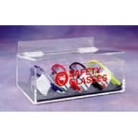 "Safety Glass Dispensers - Acrylic   9""W x 3""H x 6""D  AK-230-1 by Cleanroom World"