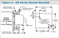 Recess Kit For Hand Dryers - AM-ADA-RK by Cleanroom World