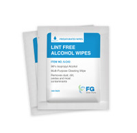 "Pre-Saturated Polyester Cellulose Wipes, IPA, Individual Packs, 3""x 4"" By Cleanroom World"