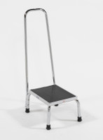"Chrome Step Stools with 35""H Hand Rail by Cleanroom World"