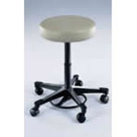 Lab Stools, Pneumatic Foot Operated, Beige by Cleanroom World