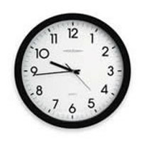 Clock, Battery Operated, 15 Inch Round By Cleanroom World