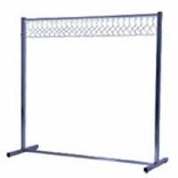 Cleanroom Garment Racks - Single Poly Pole by Cleanroom World