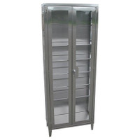 Stainless Steel Instrument Cabinets, Flat Top by Cleanroom World