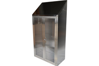 Stainless Steel Cabinets, Glass Doors by Cleanroom World