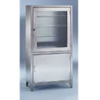 Stainless Steel Supply Cabinets, Upper/Lower Section by Cleanroom World