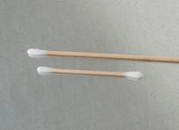 "Lab Swabs, Foam/Cotton, 3/8""W x 1""L, Wood Handle By Cleanroom World"