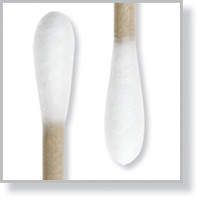"""Lab Swab, Double Cotton Tips, 3"""" Wood Handle By Cleanroom World"""
