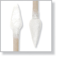 """Lab Swab; Double Cotton Tips, Point/Point, 3"""" Wood Handle By Cleanroom World"""