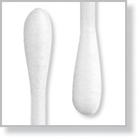 "Lab Swab, Cotton Double Tip, Round/Round, 6"" Paper Handle By Cleanroom World"