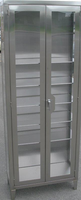 """Stainless Steel Supply Cabinets, 24""""W x 18""""D x 84""""H by Cleanroom World"""