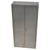 "Stainless Steel Supply Cabinets 24""x 18"" x 84""H by Cleanroom World"