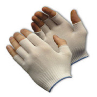 Glove Liners, Nylon, Partial Finger Tip, Light Weight, One Size, 12 Pair/Bag   CL-5303  by Cleanroom World