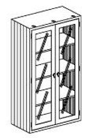 """Stainless Steel Supply Cabinets, 35""""x 18""""x 60""""H by Cleanroom World"""