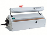 "Heat Sealers, Table Top, Stainless Steel, Medium Duty, Cutter, Seal Length: 16.5""  AV-421-MGS by Cleanroom World"