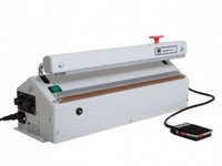 "Heat Sealers, Table Top, Impulse, Motorized Operation, Medium Duty, Cutter, Seal Length: 24.5""  AV-621-MGM by Cleanroom World"
