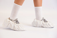 Shoe Covers, CPE Plastic Film, White, Universal Size, 150 Pairs, CT-TI-CPE-SC-WH  by Cleanroom World