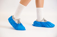 Shoe Covers, CPE Plastic Film, Universal Size, Blue, 150 Pairs,  CT-TI-CPE-SC-BL  by Cleanroom World