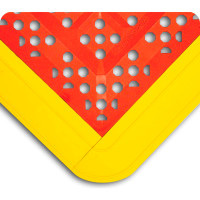 "Emergency Shower Mats, Red/Yellow, 27""x30"" By Cleanroom World"