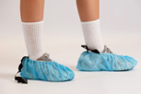 Conductive Shoe Covers, Conductive Strip, Large, Blue, 150 pairs/case  MX-SHO-C1B424  by Cleanroom World