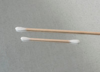 "Lab Swab - Cotton Tip, 3"", Wood Handle by Cleanroom World"