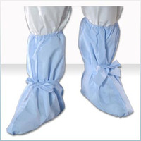 Cleanroom Boot Covers, Fluid Impervious, Non-Skid, Blue, Universal Size, 100 pairs/case By Cleanroom World