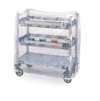 """Cart Cover, MetroMax, Clear Vinyl, 18""""x 36""""x 32""""H By Cleanroom World"""