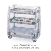"""Cart Cover, MetroMax, Clear Vinyl, 18""""x 36""""x 52""""H By Cleanroom World"""