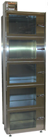 Desiccator Cabinets, Stainless Steel, 5 Compartments, 24x14x18 by Cleanroom World