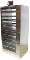 Desiccator Cabinets, Stainless Steel, 2 Compartments, Shelves by Cleanroom World