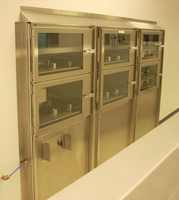 Wall Mounted Pass Through Desiccator Cabinets, 6 Compartments by Cleanroom World