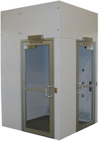 Cleanroom Air Showers, 90-Degree, Painted Steel by Cleanroom World