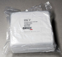 "Cleanroom Wipes, Berkshire Choice 700, Laundered Polyester, 9""x 9"", 150/pack, 14 packs/case  BRK-CH709-14  by Cleanroom World"