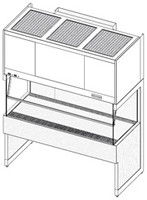 Laminar Flow Clean Benches, Vertical Flow Exhausting by Cleanroom World